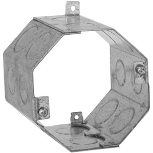 "Hubbell-Raco 273 4"" Concrete Ring, Octagon, 3-1/2"" Deep 1/2"" & 3/4"" KOs, Steel"