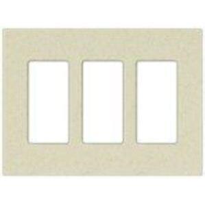 Lutron SC-3-BI Dimmer/Fan Control Wallplate, 3-Gang, Biscuit