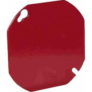 "Orbit Industries FA-4RBC 4"" Octagon Fire Alarm Cover, Welded, Flat, Blank, Red, Steel"