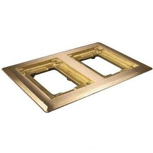Wiremold 827B Cover Plate Flange, Square, 2-Gang, Brass