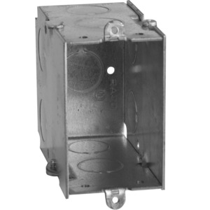 "Hubbell-Raco 592 Switch Box, Gangable, 3-1/2"" Deep, Conduit Knockouts, No Ears"