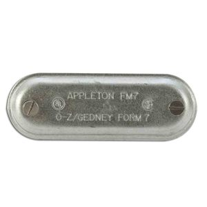 "Appleton 370 Conduit Body Cover, 1"", Form 7, Steel"