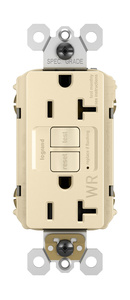 Pass & Seymour 2097TRWRI100 GFCI Receptacle, Weather/Tamper Resistant, 20A, 125V, White, BULK