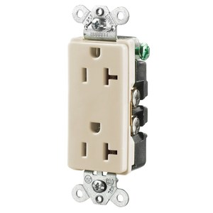 Hubbell-Wiring Kellems HBL2162AL STYLE DUP RCPT, 20A 125V, 5-20R, AL *** Discontinued ***