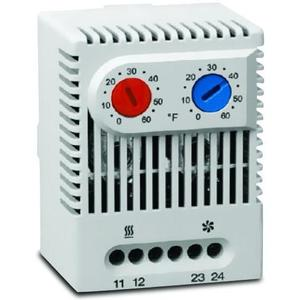 Hoffman ADLTEMP Dual Thermostat, NO & NC Contacts, Temperature Range: 32 to 140 F