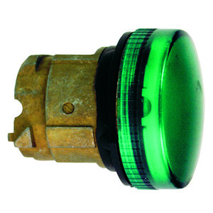Square D ZB4BV033 Pilot Light, 22.5mm, Green, Plain Lens, LED, Head Only