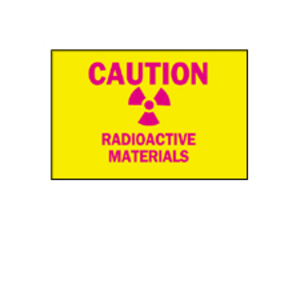 Brady 25284 Sign,B401,10x7,Ma/Yw,CAUTION RADIO,1EA