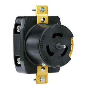 Pass & Seymour CS8369 Locking Receptacle, 50A, 3PH 250V, California Style, 3P4W