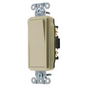 Hubbell-Kellems DS115I Decora Switch, 15A, 120/277V, Ivory, Single-Pole