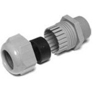 "Thomas & Betts CC-NPT-12-G-2 Cord Connector, Liquidtight, 1/2"", Nylon"