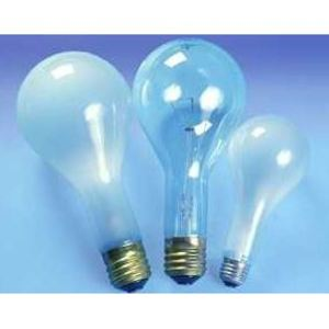 SYLVANIA 202PS25/CL-125V Incandescent Bulb, PS25, 202W, 125V, Clear