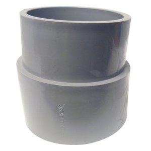 """Cantex 6141530 3"""" Sched. 40 5 Deg Coupling Bell to Plain End - Molded"""
