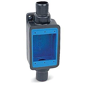"Ocal FDC2-G FD Device Box, 1-Gang, Feed-Thru, Type FD, 3/4"",  Iron/PVC Coated"