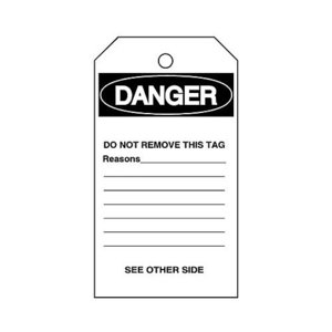 Brady 76198 Blank Accident Prevention Tag W/overlam