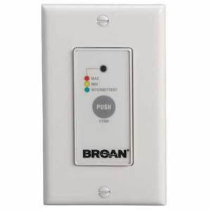 Broan VT4W Wall Control, Off/Low/High Speed/Intermittent 20 min./Hour