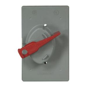Eaton Arrow Hart S2983 Locking Toggle Switch Weatherproof Cover, 1-Gang, Non-Metallic