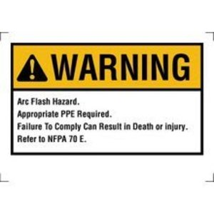 Ideal 44-892 Arc Flash Hazard Label