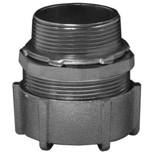 Appleton 7400UST EMT Compression Connector, 4 inch, Insulated, Concrete Tight, Material: Malleable Iron, UL 514 B