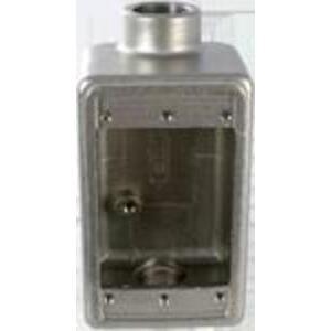 "Calbrite S61000FDCD Rigid SS 316 Single Gang FDC Box 1"""