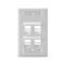 42081-4WS WHT ANGLD W/ PORT WALLPLT 1G