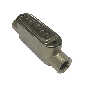 """Calbrite S60700CE00 Conduit Body, Type C, Size: 3/4"""", Form 8, Stainless Steel"""