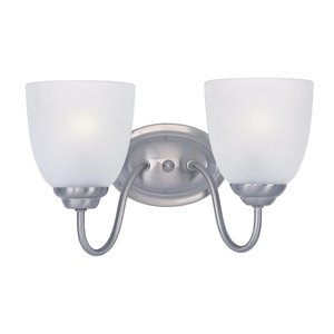 Maxim Lighting 10072FTSN Bath Vanity, 2-Light, 60W, Satin Nickel