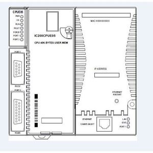 Emerson IC200CPUE05 CPU, PLC, VersaMax, 128K, 2 Ports, User Configurable Memory, 10mBit