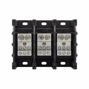 Eaton/Bussmann Series 16325-3 Power Distribution Block, 3-Pole, Double Primary - Multiple Secondary