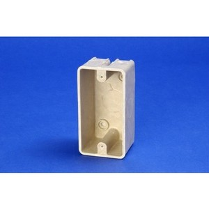 "Allied Moulded 9318 Electrical Box, 1-Gang, Depth: 2"", Surface Mount, Non-Metallic"