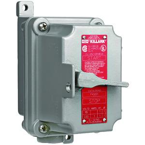 Hubbell-Killark FXS-22D FXS Series - Aluminum Dead-End 2-Pole Tumbler Switch Unit - Factory Sealed - Hub Size 3/4 Inch - 30A