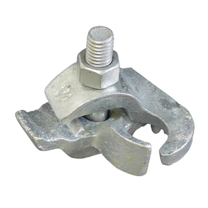 "Appleton PC-200ET Conduit Clamp, 2"", Edge Type, Malleable Iron, Hot Dipped Galvanized"