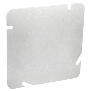"""Garvin Industries 6BC 6"""" Square Cover, Flat, Blank, Steel"""