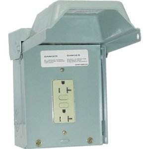 Midwest U010010 Power Outlet, Un-Metered, 20A, 1P, 120/240V, NEMA3R, Temporary