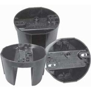 "Cantex EZ12CF Ceiling/Fixture Box, 2-1/2"" Diameter, Black, Non-Metallic"
