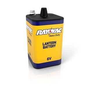 Rayovac 944A Heavy Duty 6-Volt Lantern Battery, Spring Terminals