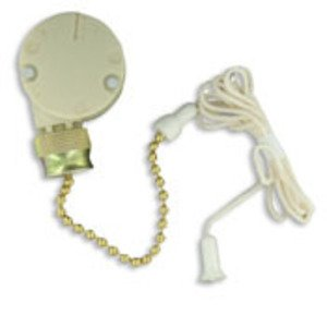 Leviton 1689 Appliance Pull Chain Switch, 3/6A, 125V, 2 Circuit, 4-Position