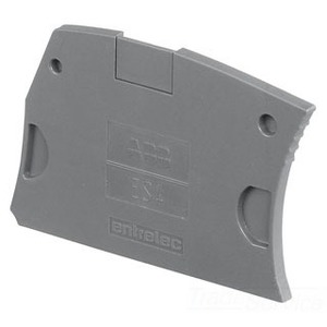 Entrelec 1SNK505910R0000 Terminal Block, Snap-On End Section, Type: ES4, Gray, 2.2mm.