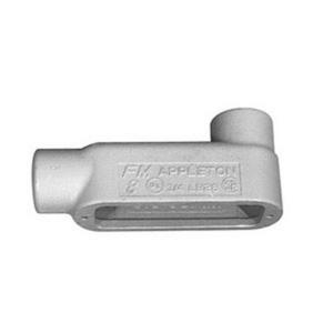 "Appleton LB58 Conduit Body, Type: LB, Size: 1-1/2"", Form 8, Grayloy Iron"
