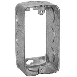 "Hubbell-Raco 665 Handy Box Extension Ring, 1-7/8"" Deep, 1/2"" KOs, Drawn, Metallic"