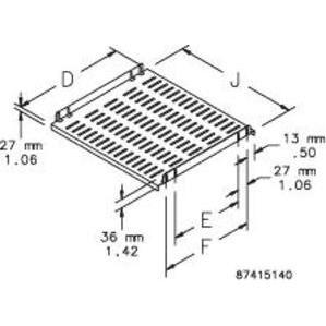nVent Hoffman P19SH5 Fixed Shelf 19in - 500mm