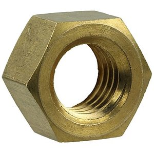 Dottie HNBR38 3/8-16 Hex Nuts Finished Solid Brass