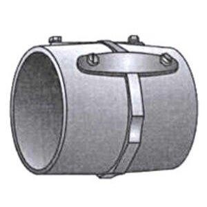 "OZ Gedney 29-300 Rigid Set Screw Coupling, 3"", Malleable, Concrete Tight"