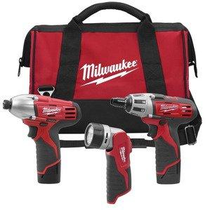 Milwaukee 2490-23 M12 Cordless Tool Kit