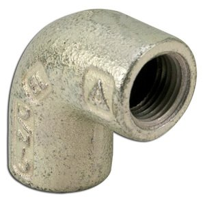 "Appleton ELF90-50 Elbow, 90°, 1/2"", Female/Female, Explosionproof, Malleable Iron"