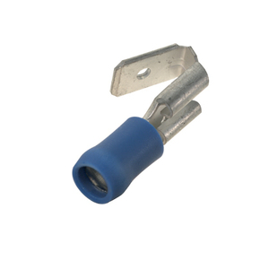 Panduit DV14-250P-L Multi-Stack Male Disconnect, Vinyl Insulated, 16 - 14 AWG, Color: Blue