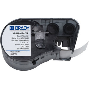 Brady M-118-494-YL LBL POLYESTER .375INHX1INW YELLOW