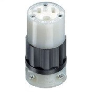 Leviton 5369-C 20 Amp Connector, 125V, 5-20R, Nylon, Black/White
