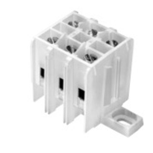 Eaton/Bussmann Series KT302-WH Terminal Block, 40A, 600VAC, 9.91mm Center Spacing, 3P, White