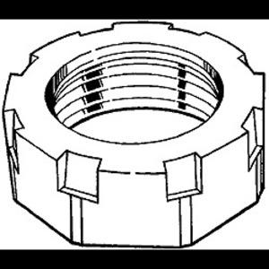 "Hubbell-Raco 1108 Bushing, Insulating, Size: 2"", Malleable Iron/Zinc"