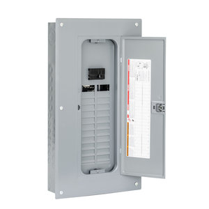 Square D HOM2448M125PC Load Center, Homeline, Main Breaker, 125A, 120/240VAC, NEMA1